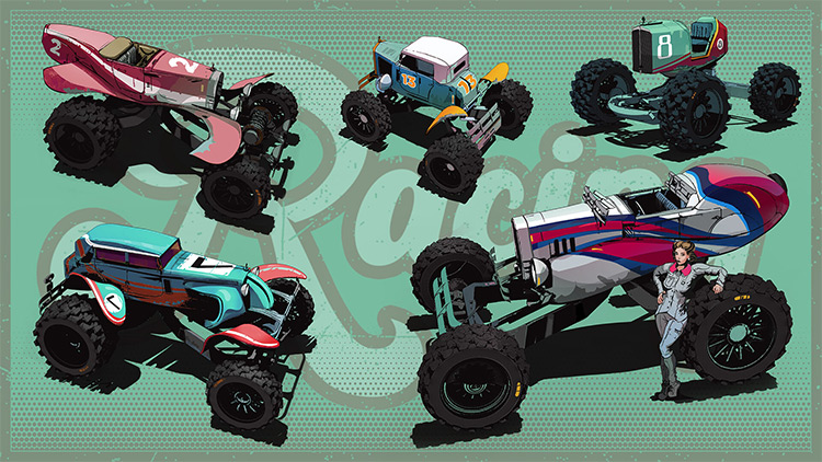 Off-road vehicle concept art designs