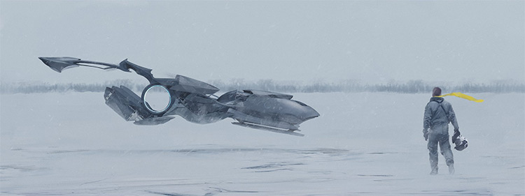 Snow terrain vehicle concept art