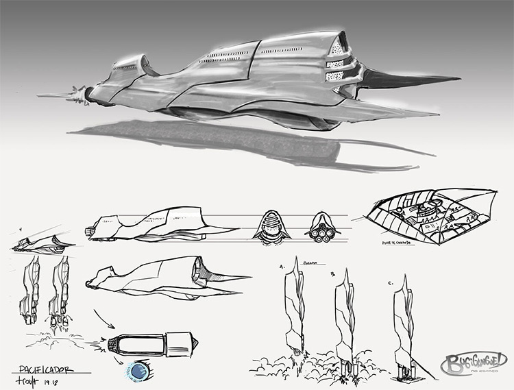 Flying car concept art design