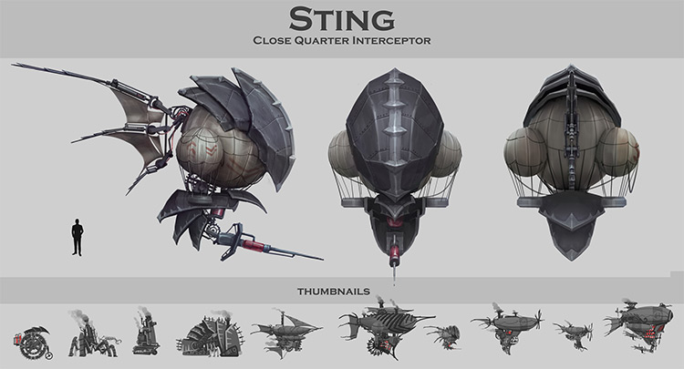 Sting interceptor concept art