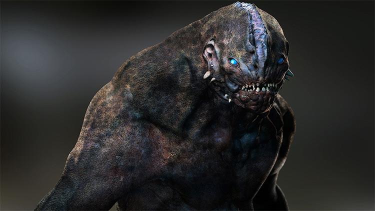 Werewolf style creature beast