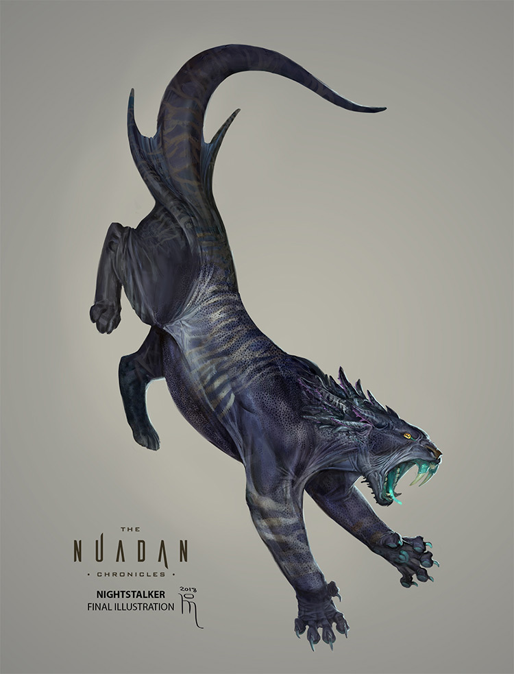 Nightstalker illustration concept creature