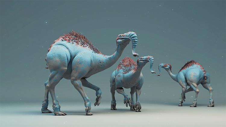 Weird elephant creature style concept design
