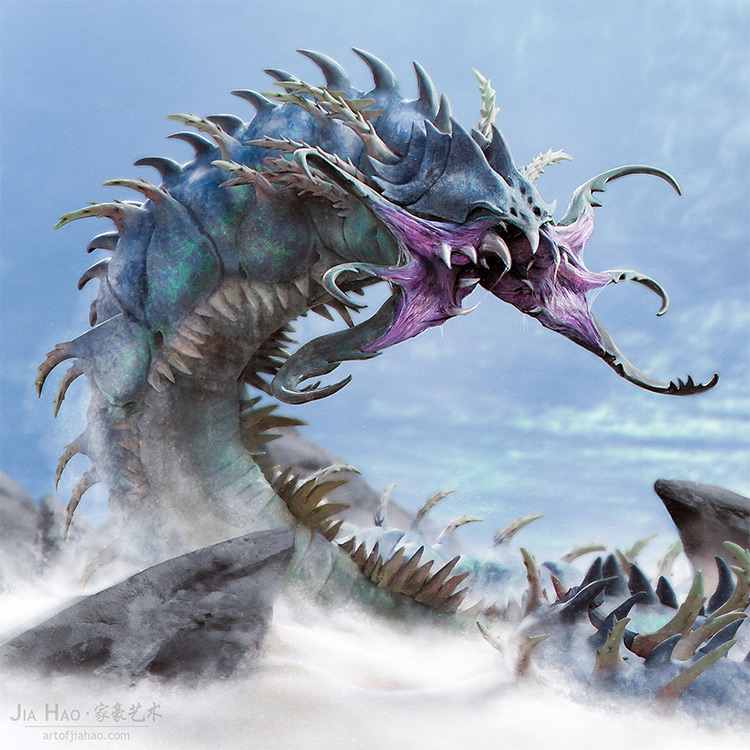 Vampire worm creature design