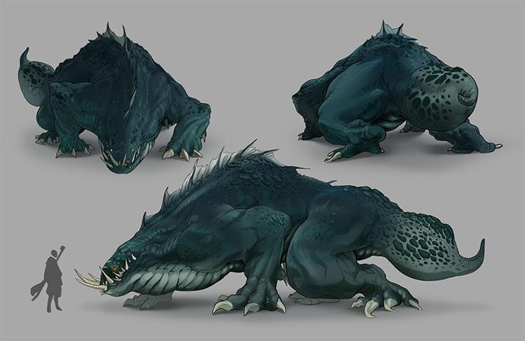 Large green dragon style beast