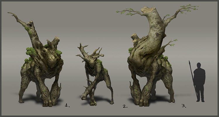 3D model of various forest tree guardians