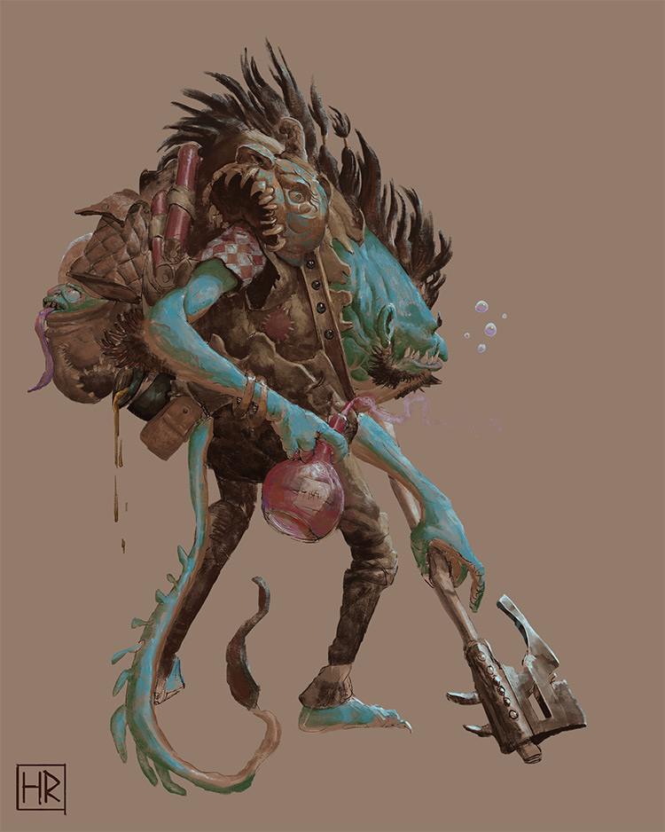 Jobal Nemesis creature design