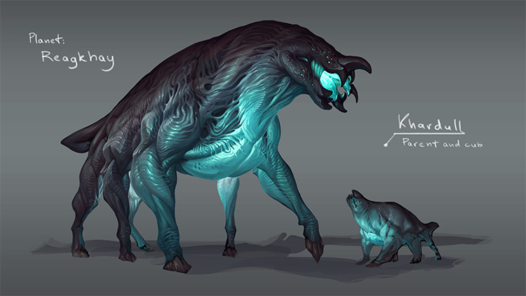 Glowing creature concept design