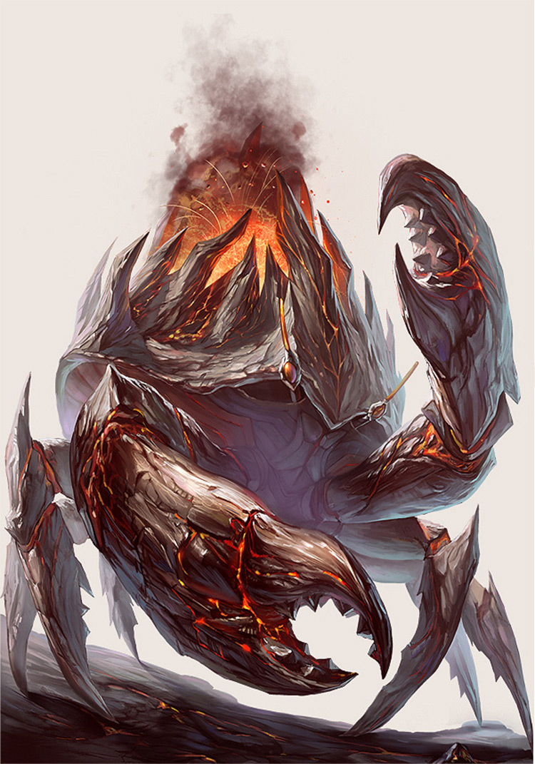 Volcano crab creature artwork