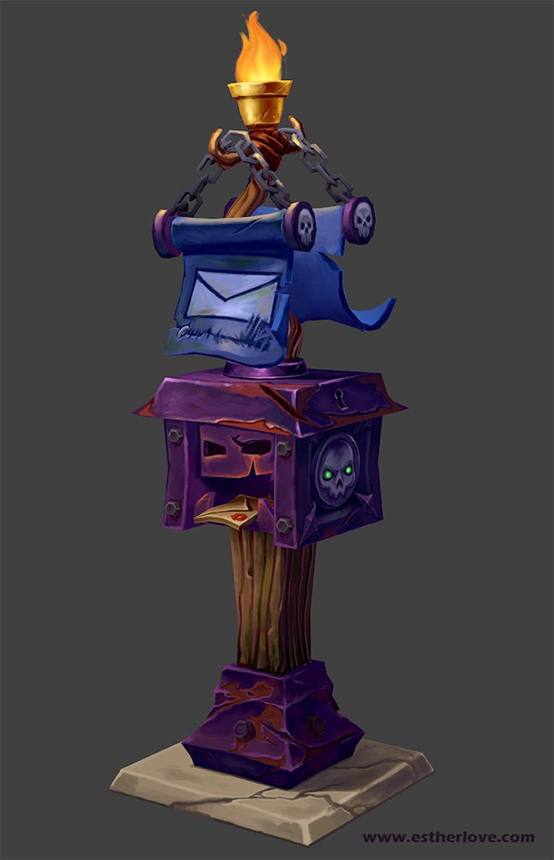 World of Warcraft mailbox concept art