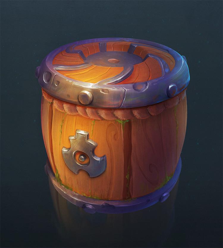 Pirate wood barrell concept art