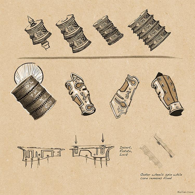Prop concept armor shields