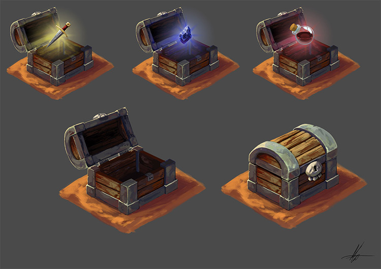 Loot chest concept artwork
