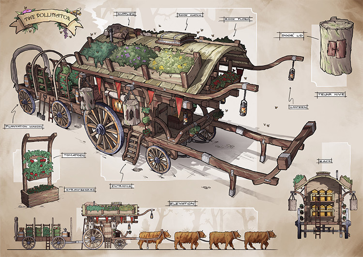 The pollinator cart