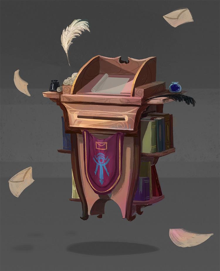 Magical mailbox prop concept art