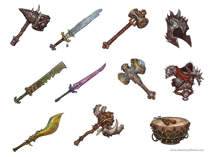 Custom concept art weapons props