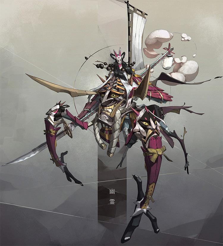 Massive futuristic character concept