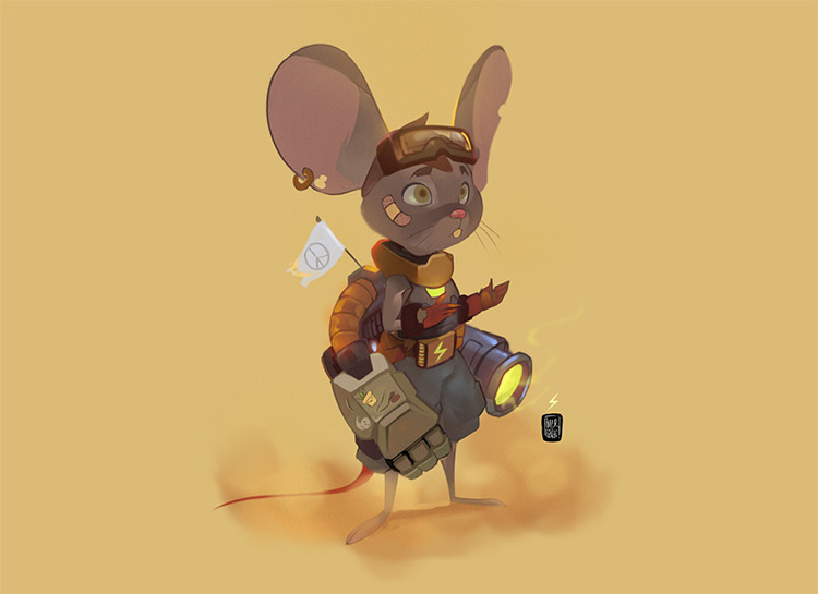 Mouse warrior character