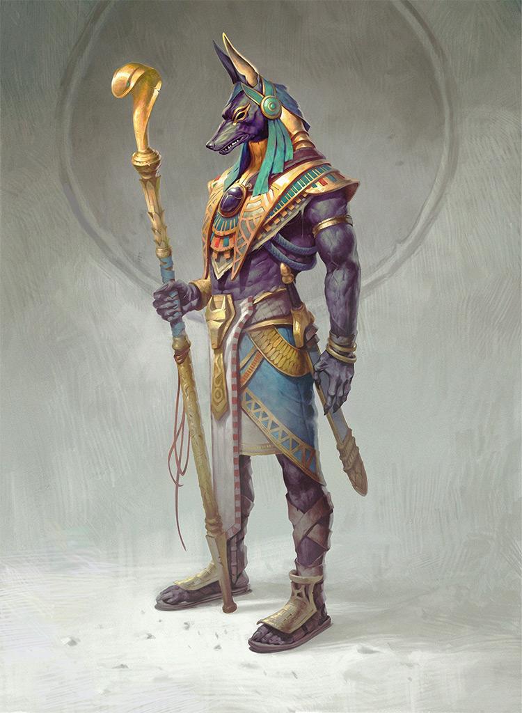 Modern Anubis character concpet art