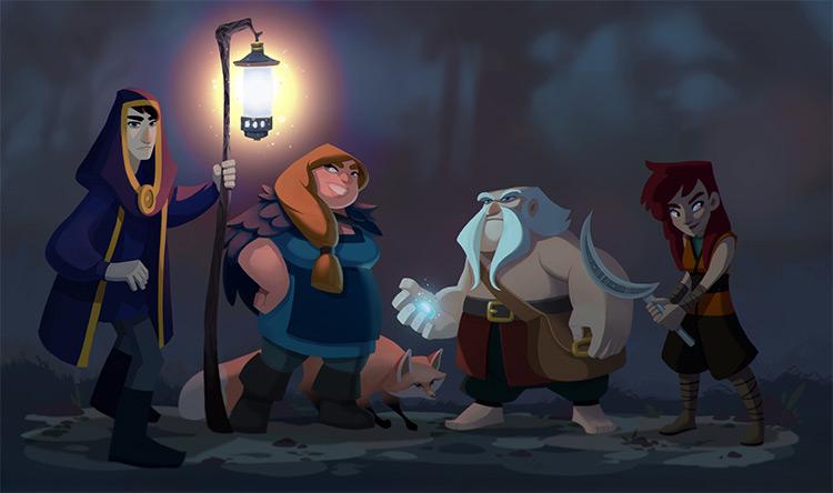 Fantasy heroes character work