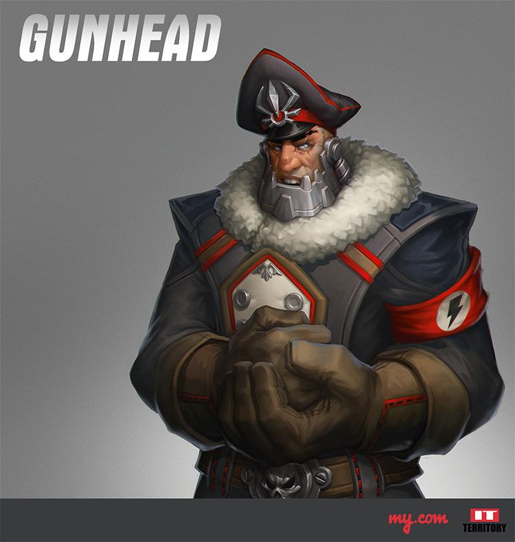 Gunhead gunner character concept