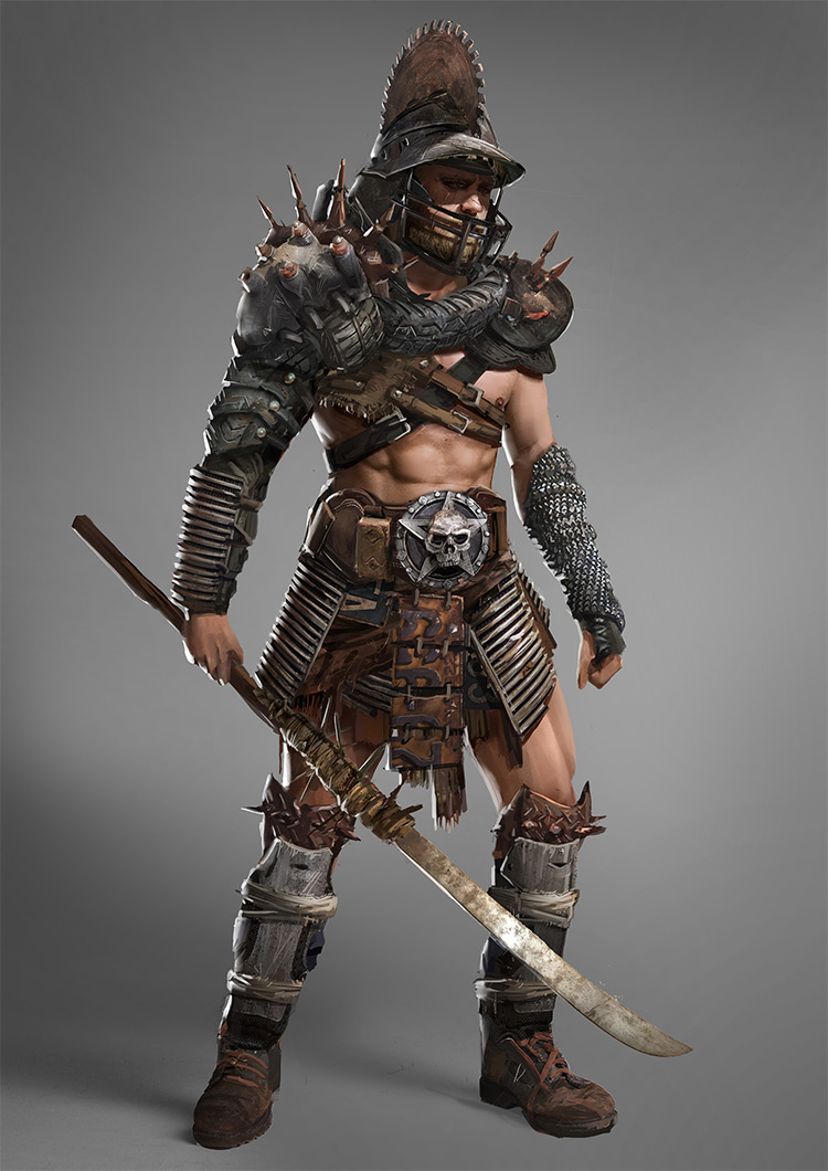 Gladiator warrior concept art