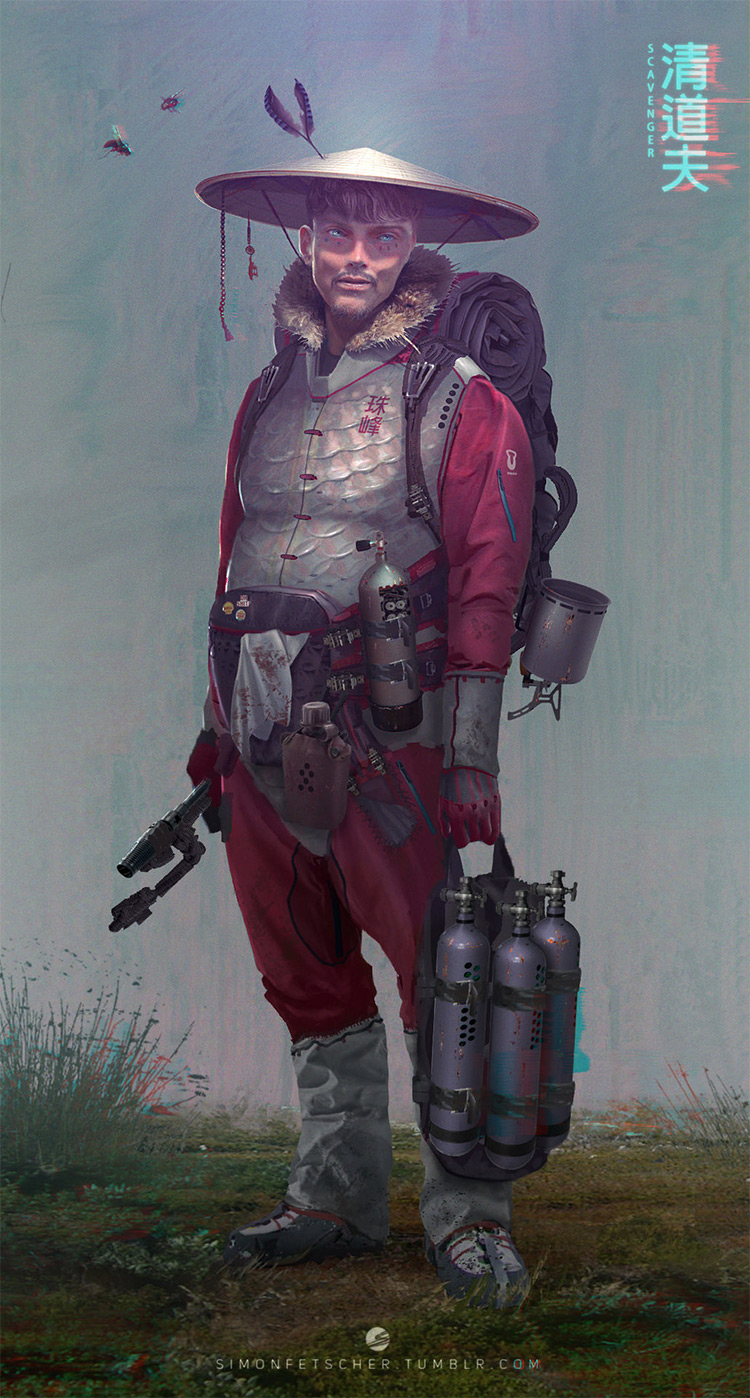 Scavenger old school concept art