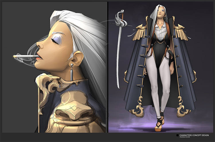 Female lead character concept