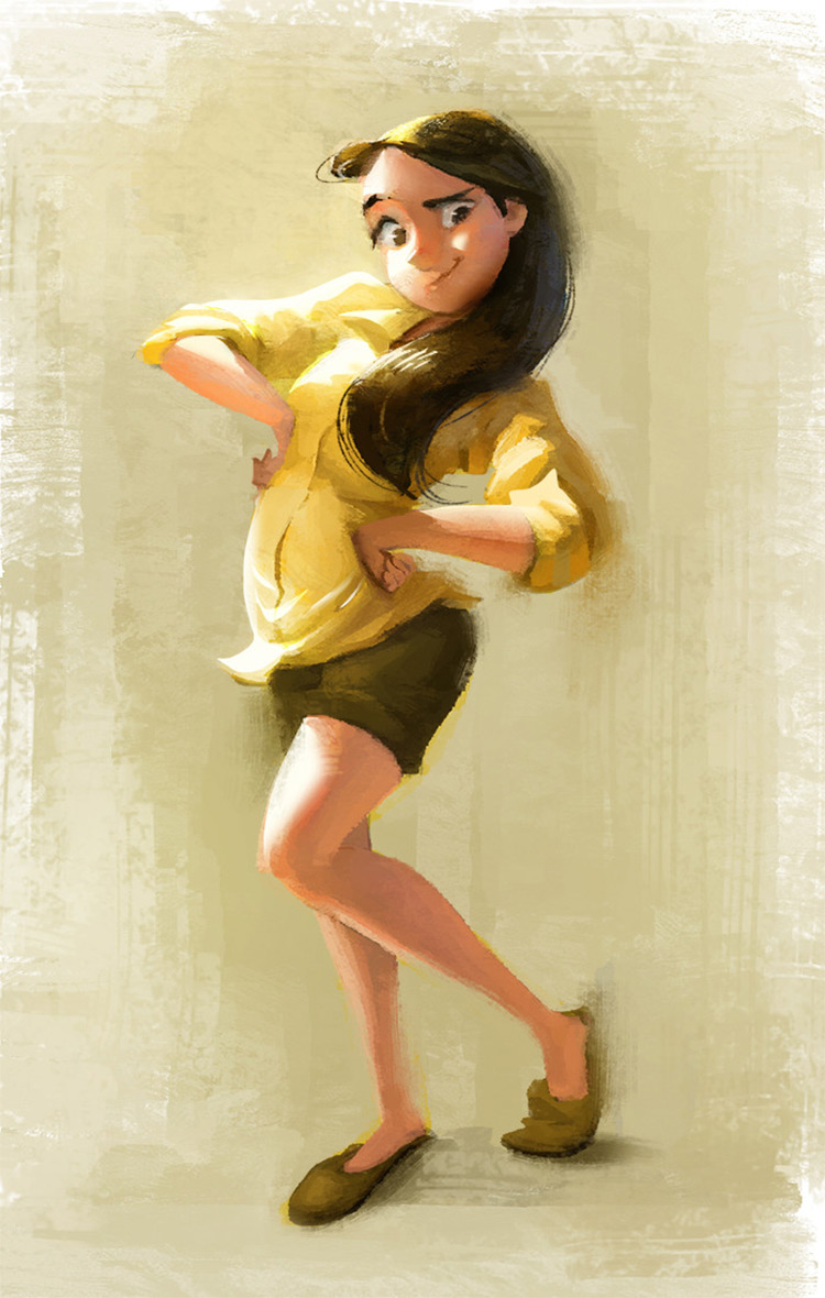 Girl in yellow sweatshirt