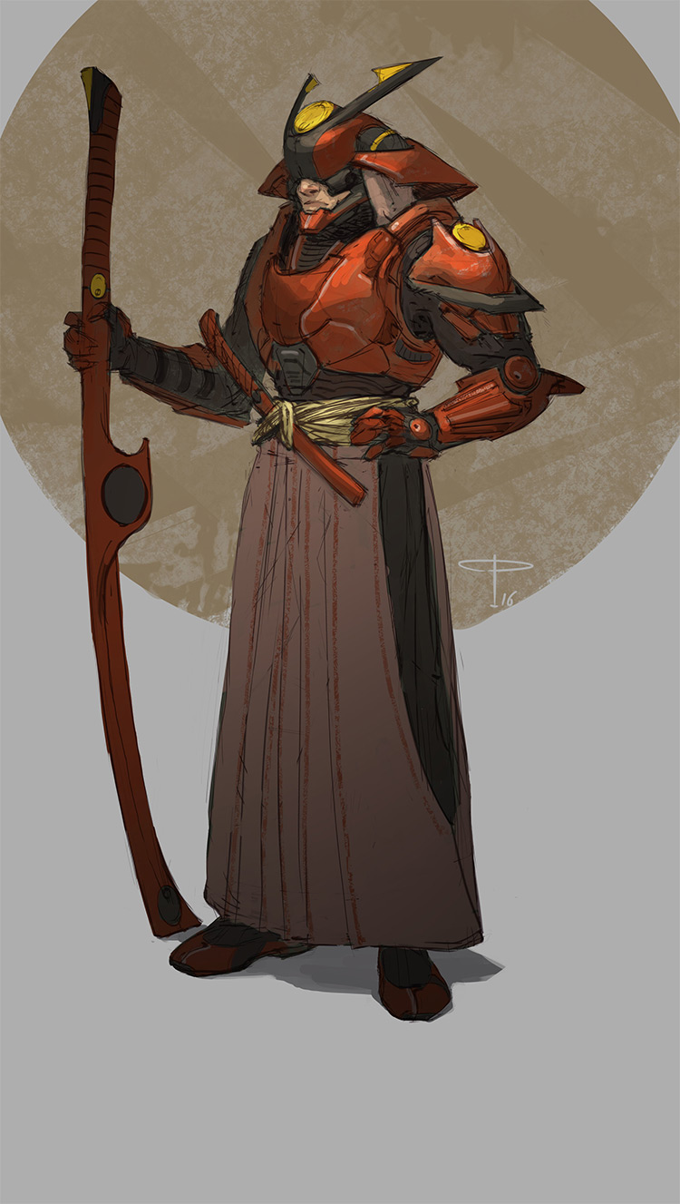Scifi character concept art