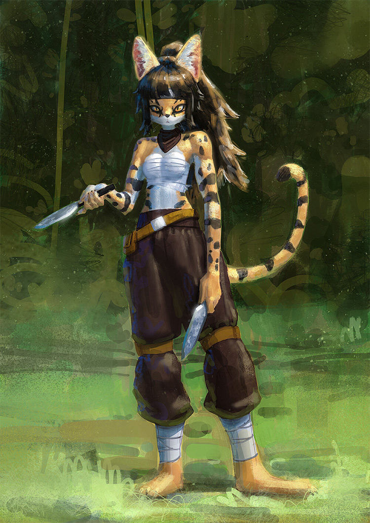 Ninja cat style design