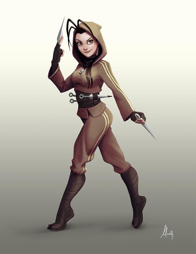 Female ninja Ibuki character fanart