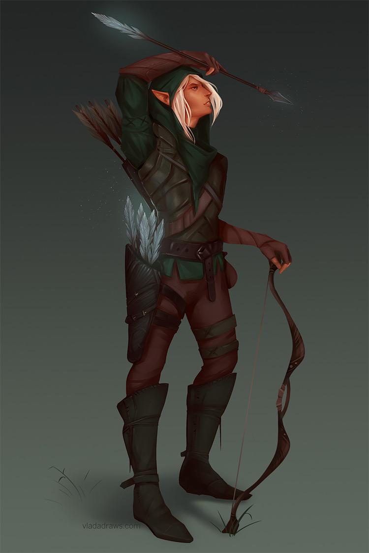 Elf fantasy character design