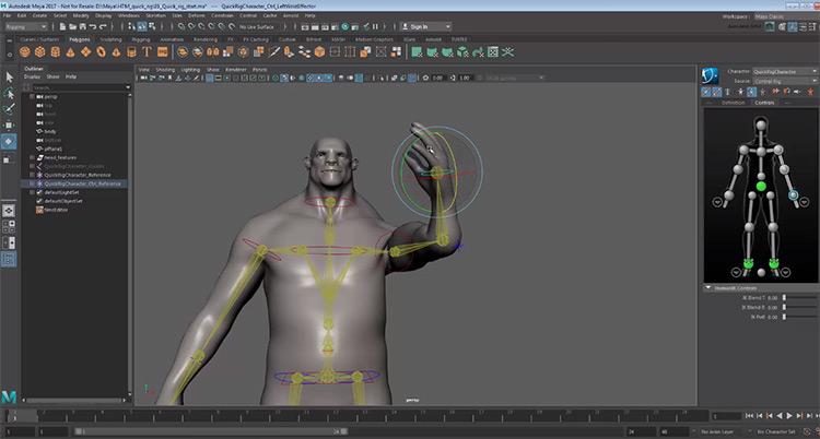 Rigging sample character design