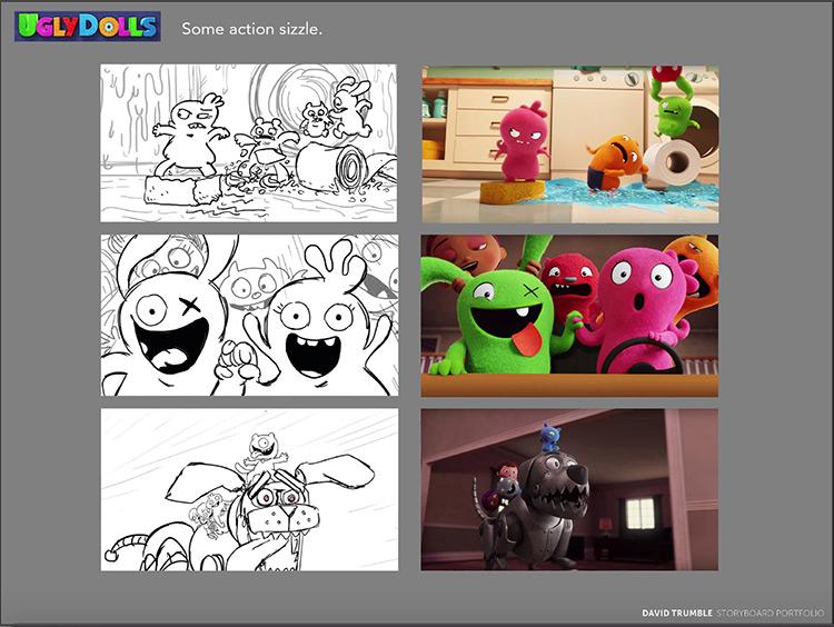 Scene drawings vs storyboards by David Trumble