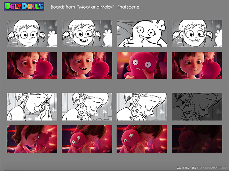 Moxy and Maizy movie - storyboard sequences