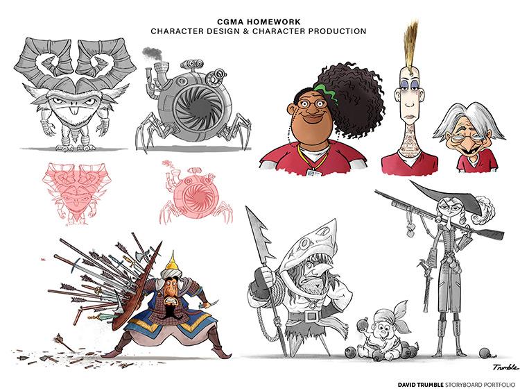 Character design homework by David Trumble