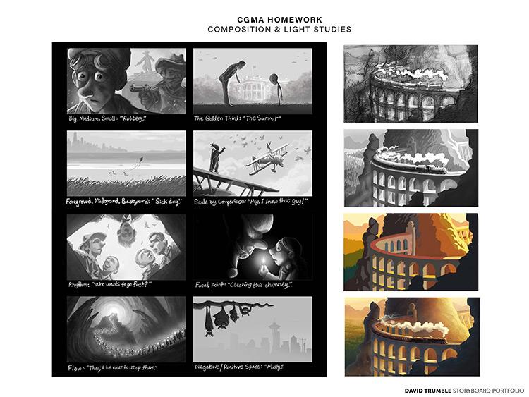 CGMA lighting artwork homework sample by David Trumble