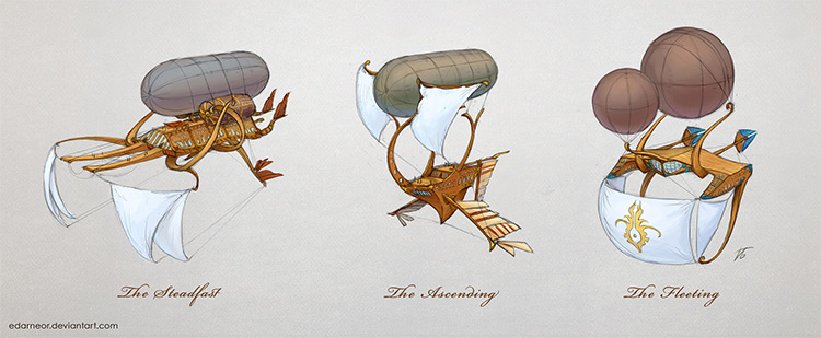 different airship concepts