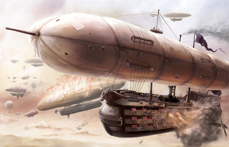airship battle concept