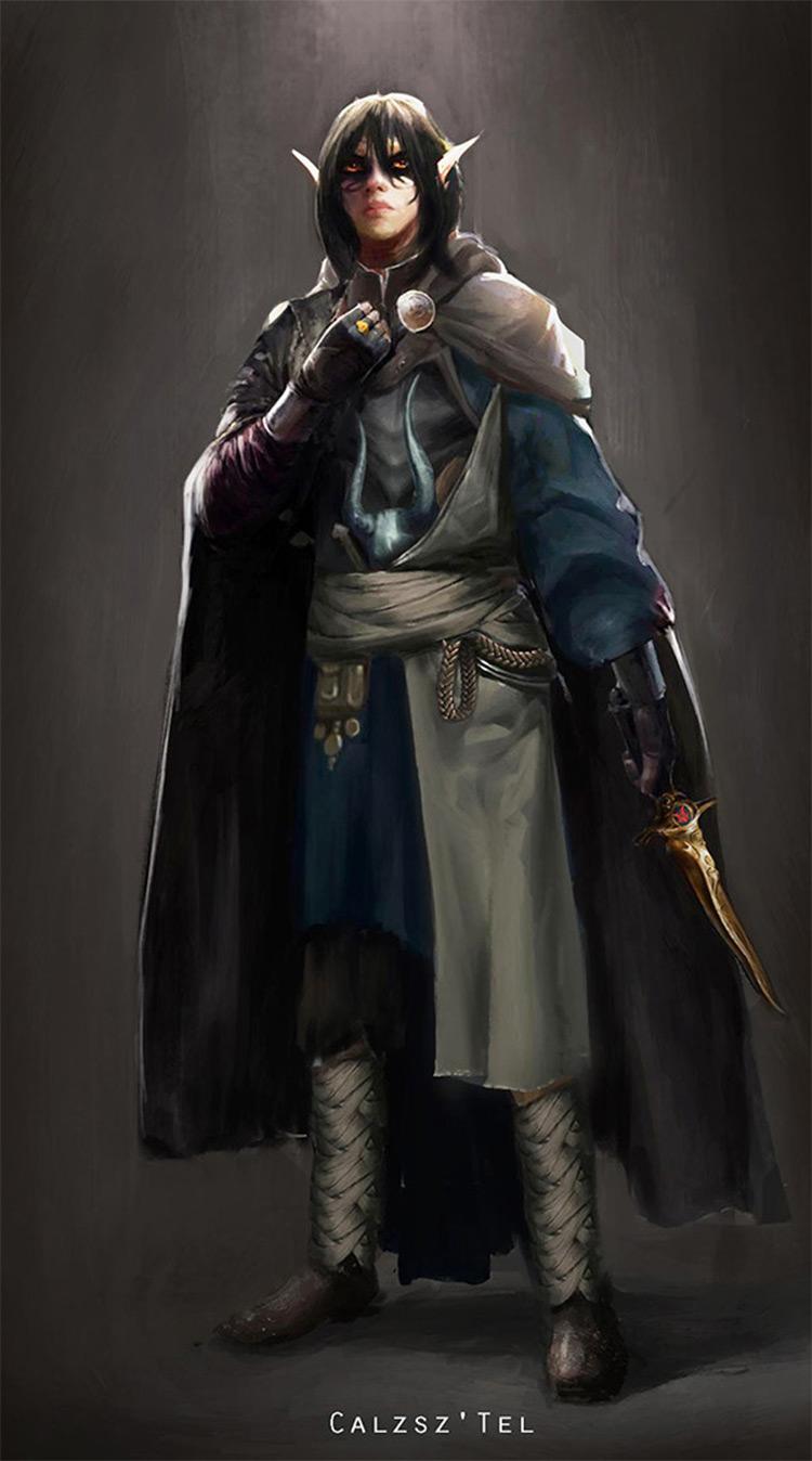 dark elf character design