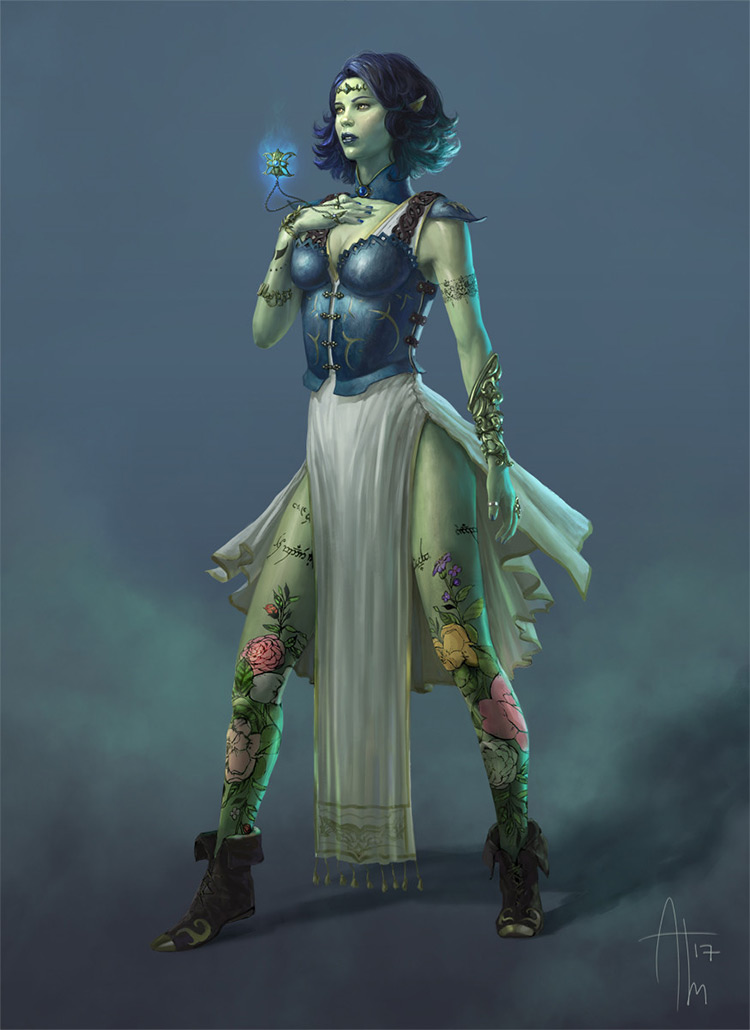 time tapestry concept elf character