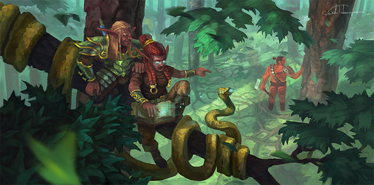 elves forest hunting