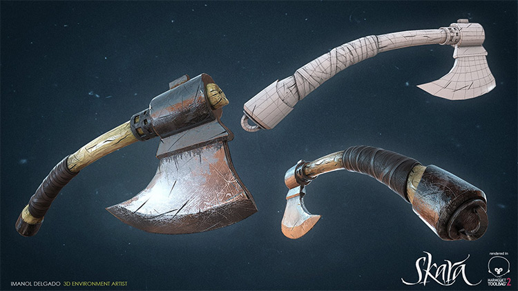 custom wrapped battle axe concepts