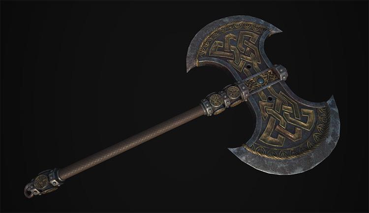 dwarf axe battle concept fanart