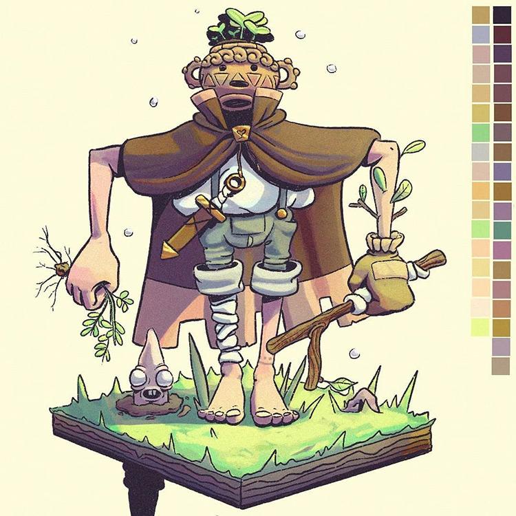 Master Weed Puller finished illustration