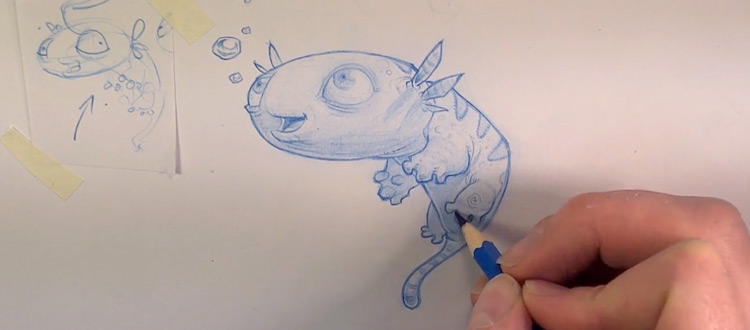 Pencil Kings cute critter sketch