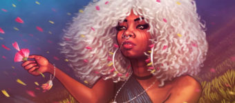 Girl with white hair - Pencil Kings portrait preview