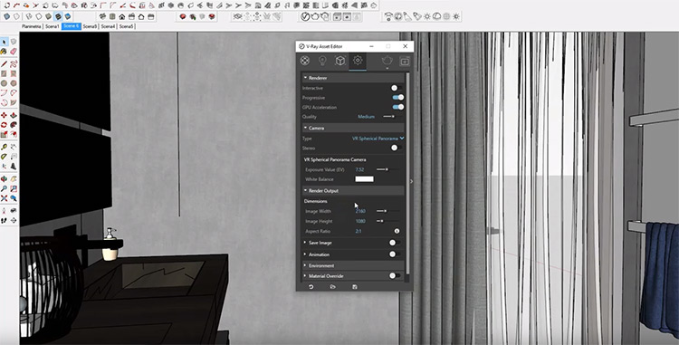 Vray with VR 360 software