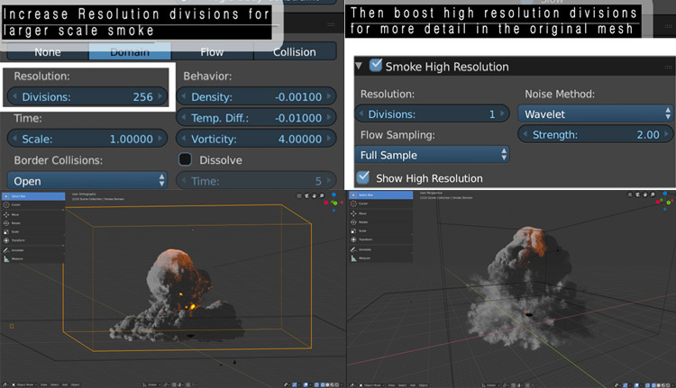 Divisions domain resolution in Blender